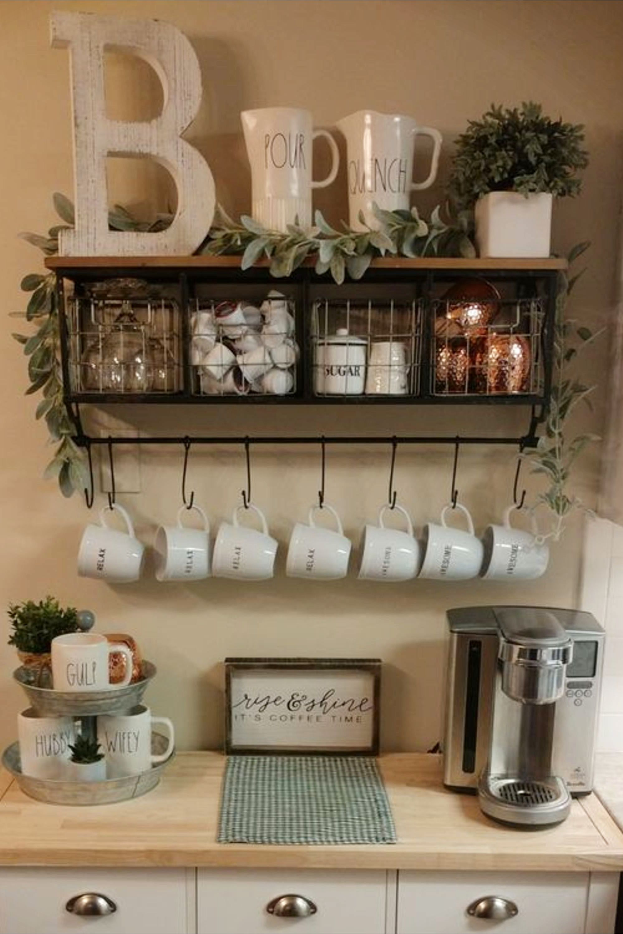 Farmhouse Coffee Station Ideas Farm Style Coffee Bar Ideas Pictures For Your Home Coffee Bar Home Diy Coffee Bar Coffee Station Kitchen