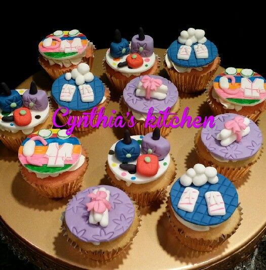 Spa themed cupcakes Cupcakes Pinterest