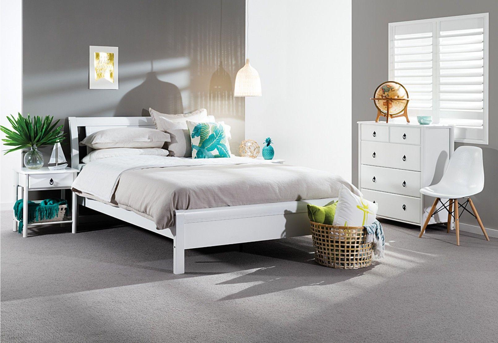 Katie 4 Piece Tall Chest Queen Bedroom Suite | Super A-Mart ...