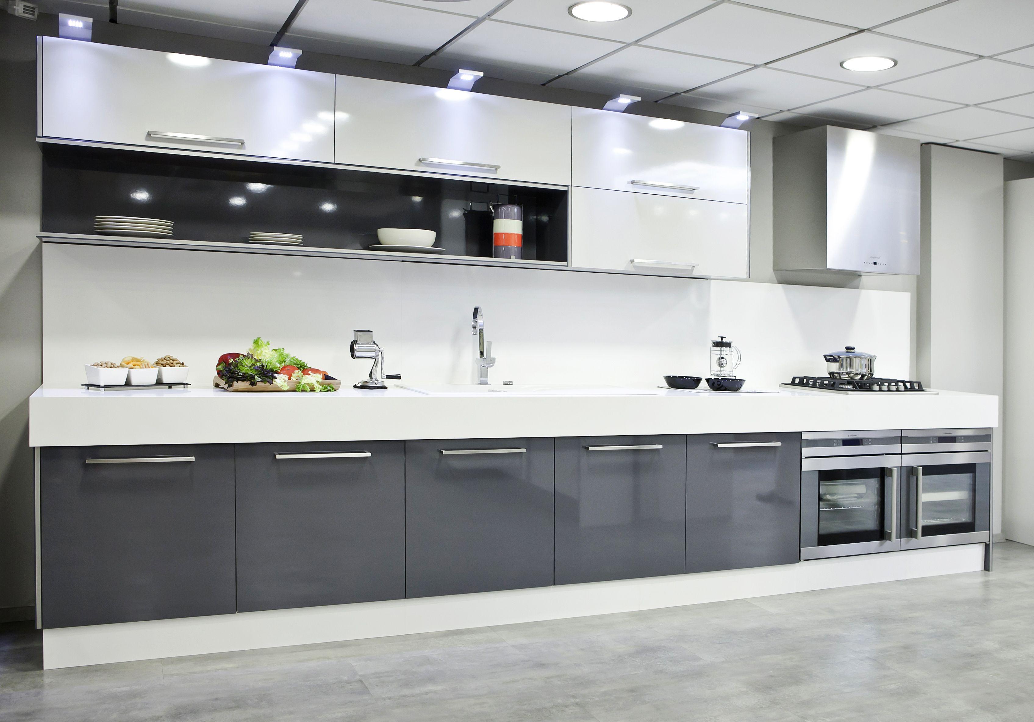 Cocina moderna textil gris cocinas pinterest cocina moderna gris y textiles - Modelos de cocinas modernas ...