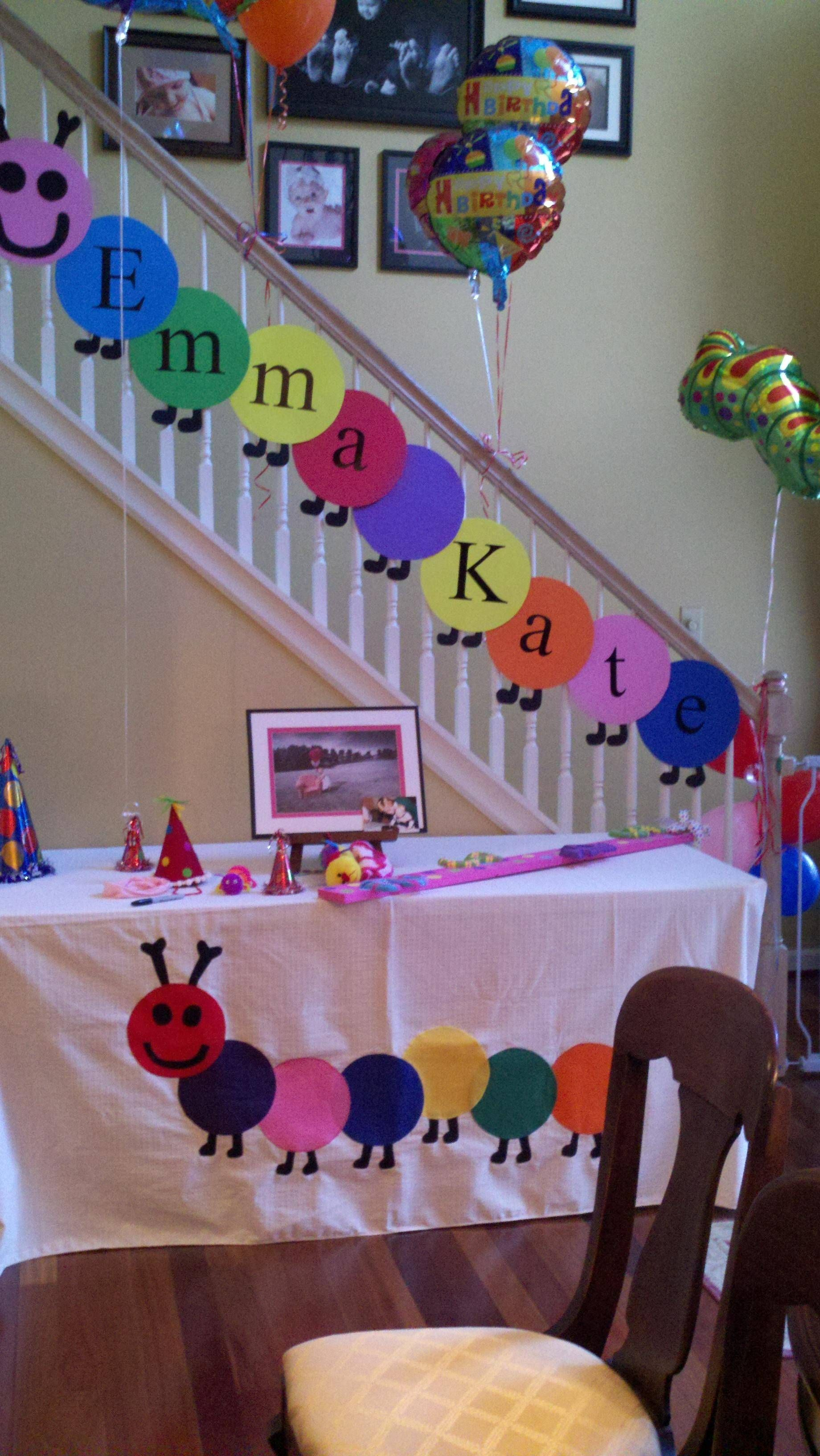 EKS caterpillar birthday party Decorations by my sweet niece and