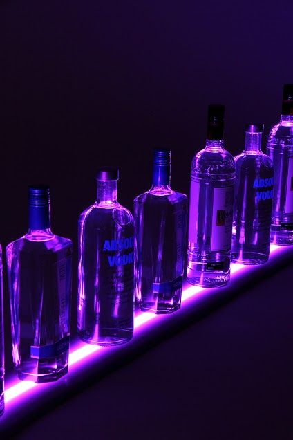 """""""Floating Bar"""" effect with a Vipply LED Light Shelf and wall mounted brackets"""