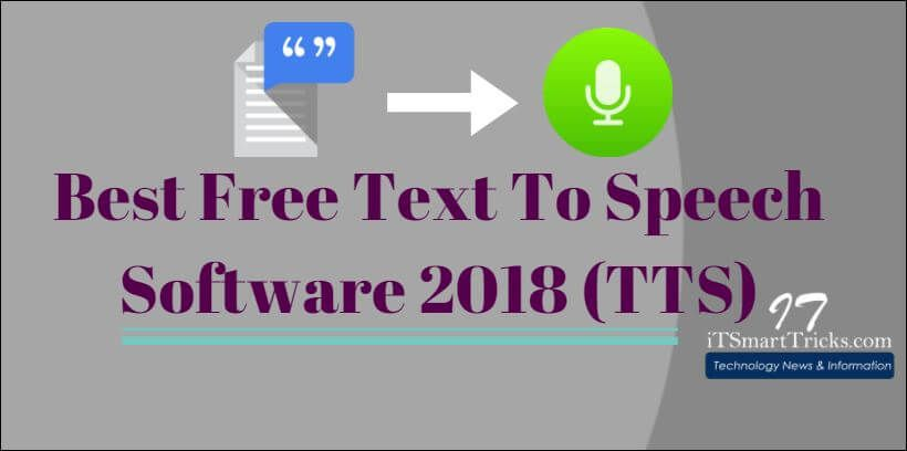 best free text to speech software