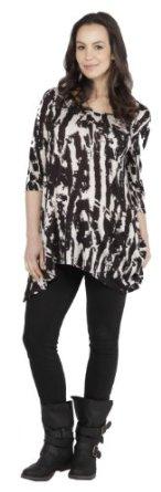 Paloma Print Maternity Top in Black (Medium (6-8)) Naissance on Melrsose. $72.00