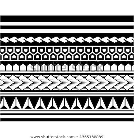 """Photo of Vector Bild von """"Tribal Pattern Tattoo Aboriginal Samoan Band"""" …"""