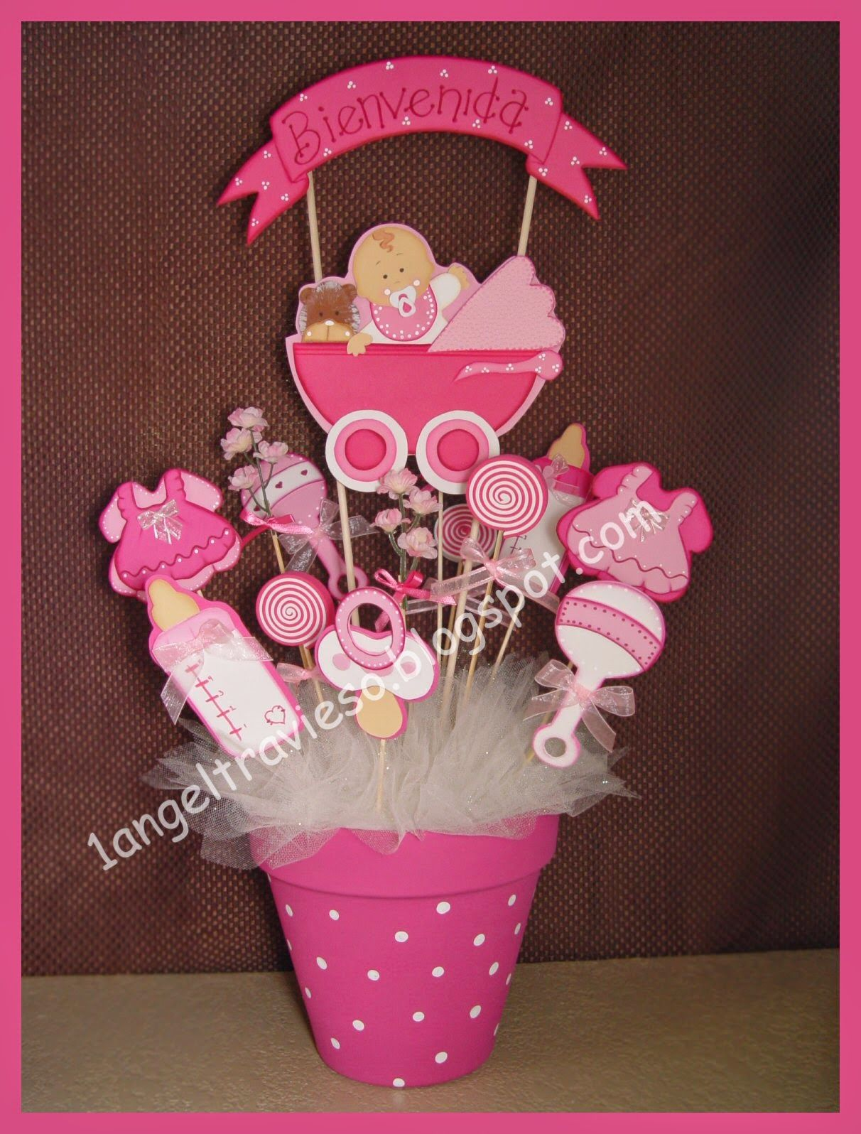 1 angel travieso baby shower creaciones babe shower for Mesa baby shower nino