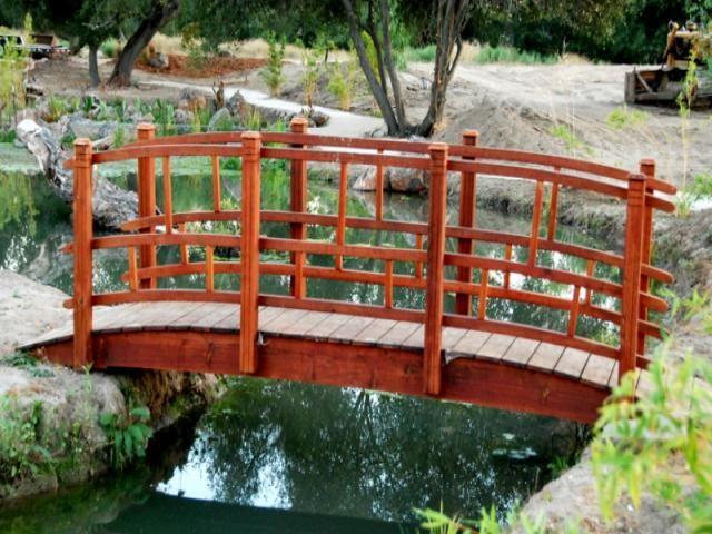 Redwood Garden Bridges Custom Built For, Redwood Garden Bridges