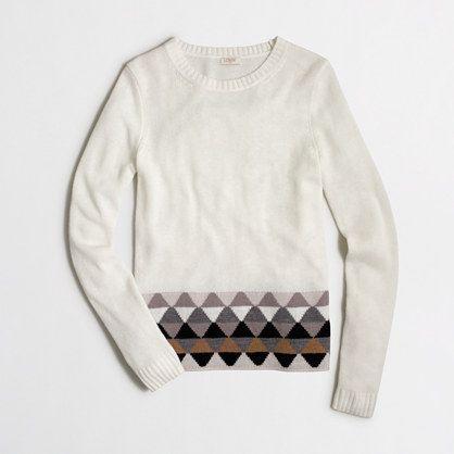 J.Crew Factory - Factory geometric striped hem sweater xs