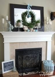 Everyday Fireplace Mantel Decorating Ideas Google Search Easter Fireplace Mantel Easter Fireplace Mantel Decor Fireplace Mantel Decor