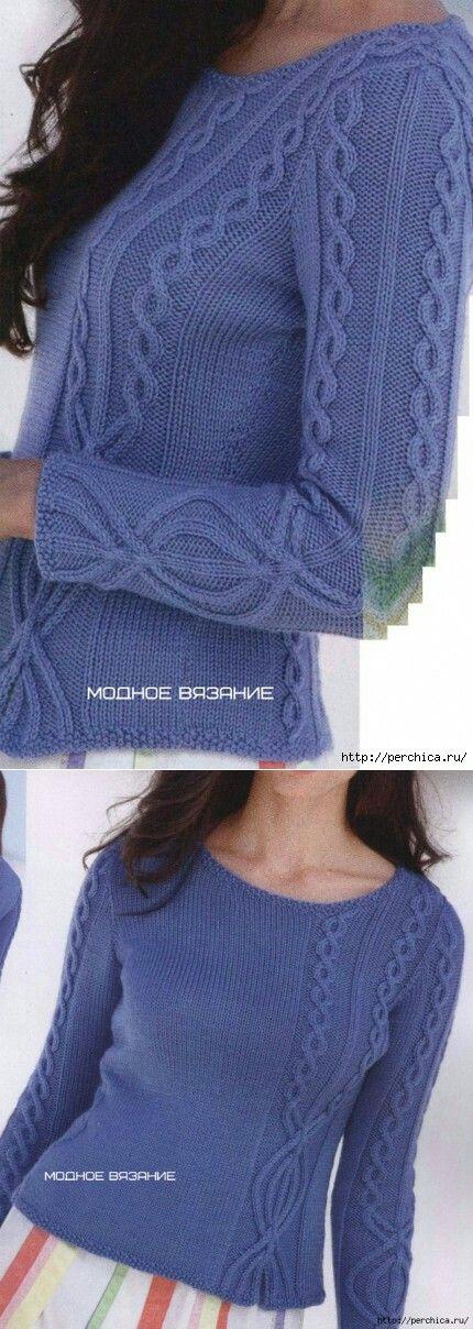 Голубой мохер   вязание   Pinterest   Knitting patterns, Tricot and ...