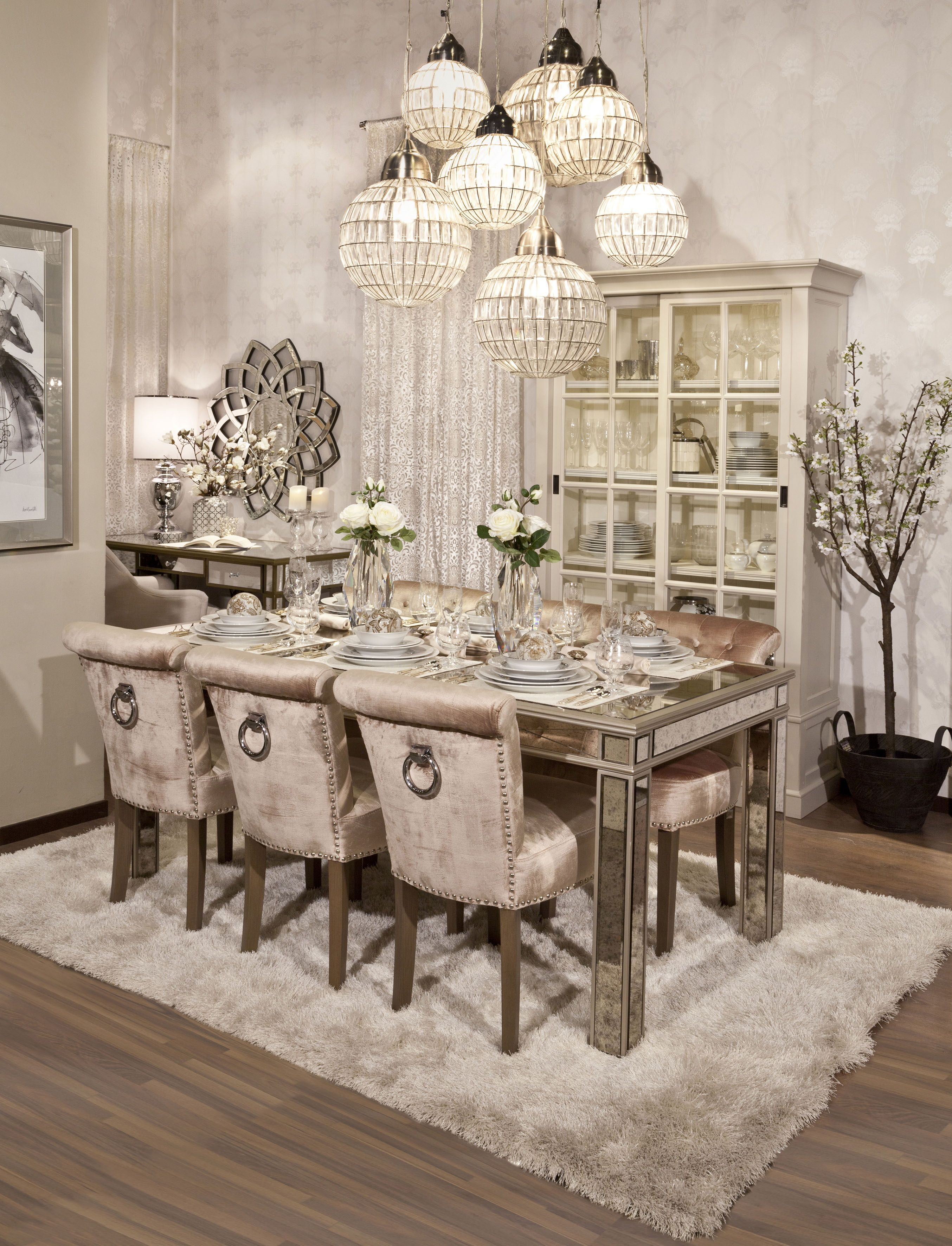 Dining Opulent Soft And Sophisticated Style Harmoniously