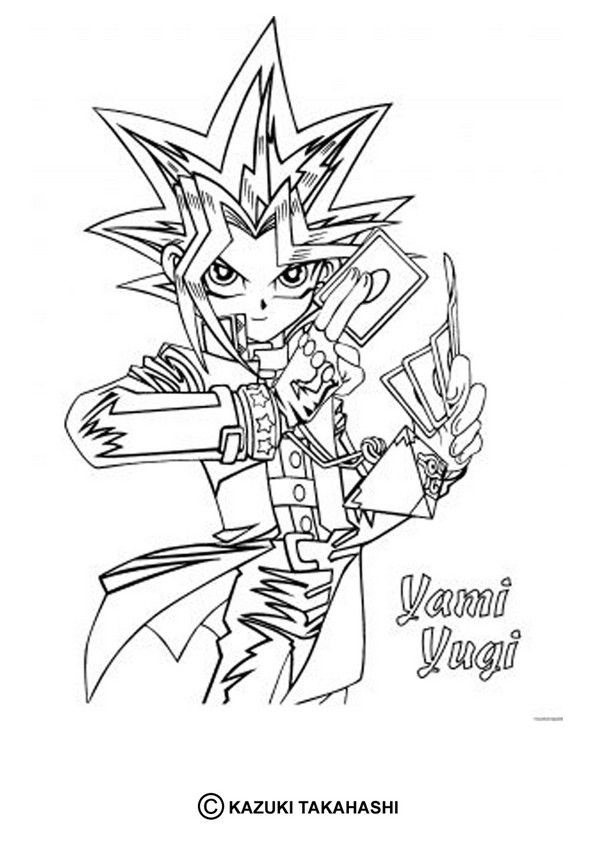 Yu Gi Oh Coloring Page Enjoy The Yami Yugi On