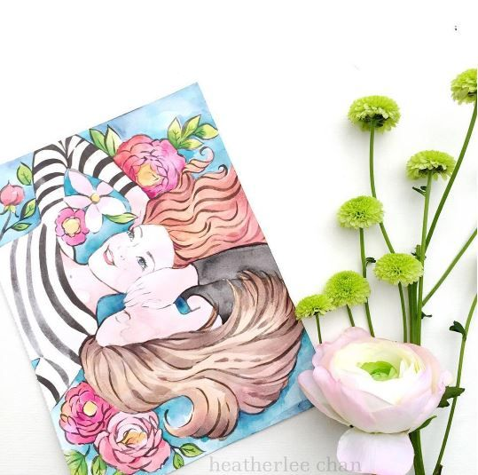 Watercolor Crush A Watercolor Coloring Book By Klutz And Illustrations By Heatherlee Chan Coloring Books Watercolor Color
