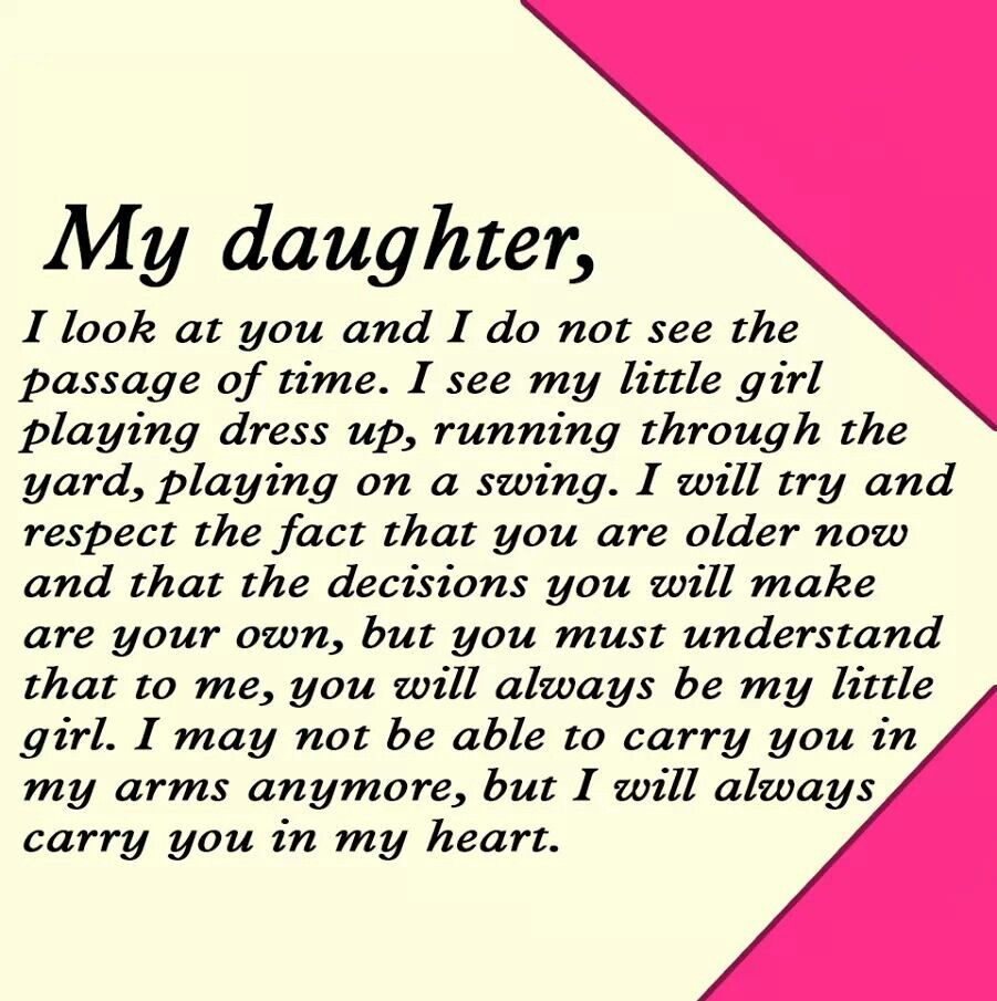 To my daughter... Fast quotes, Growing up quotes, Mommy