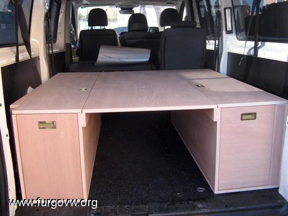 Mueble cama para la furgo furgo pinterest muebles - Muebles para camperizar furgonetas ...