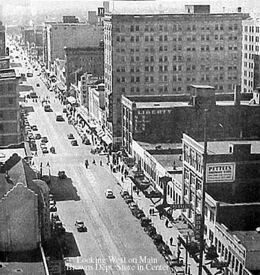 Downtown Oklahoma City 1940s Downtown Oklahoma City Diverse Landscape Red River