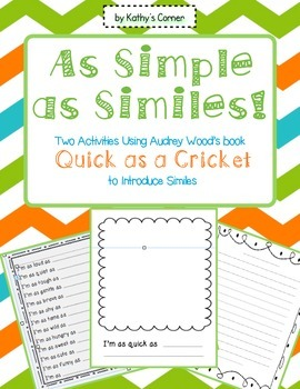 As Simple As Similes Introducing Similes With Quick As A Cricket In 2020 Class Book Family Literacy Night Simile