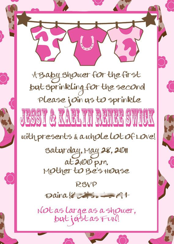 Cowgirl baby shower or sprinkle printable invitation by tiniposh items similar to cowgirl baby shower or sprinkle printable invitation on etsy stopboris Images
