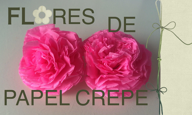 Flores De Papel Crepe Youtube Flores Pinterest Flower Power