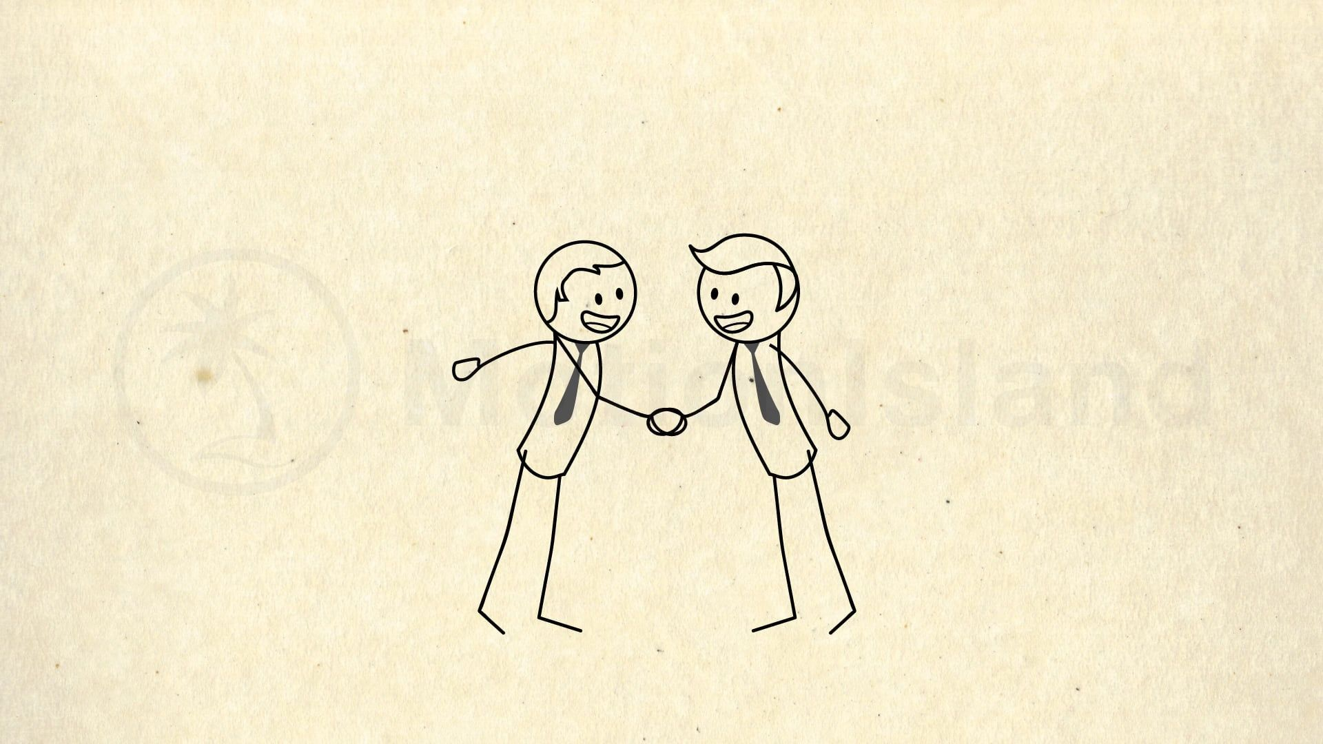 Stick figure Hand Shake | After Effects Template Animation