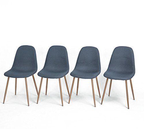 GreenForest Eames Chair Strong Metal Legs Fabric Cushion ... Https://www