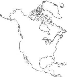 picture regarding Printable North America Map named blank determine map of north the usa - Yahoo Canada Picture