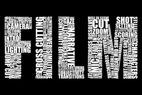 black and white film filmmaking movies typography