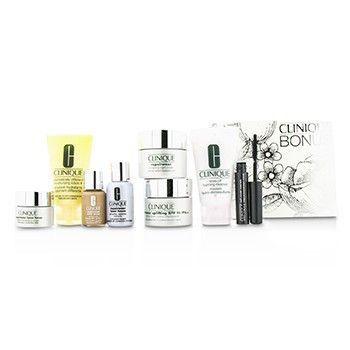 Travel Set: Cleanser + Ddml+ + Repairwear Day Cream + Night Cream + Laser Focus Serum + Eye Cream + Makeup #04 + Mascara