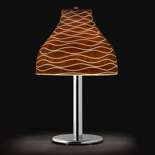 lampe poser moderne en verre cristal belle lampe contemporaine avec un abat jour en forme de. Black Bedroom Furniture Sets. Home Design Ideas