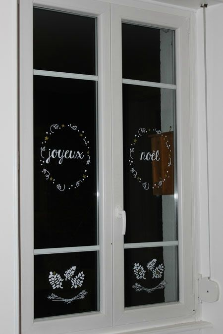 decoration noel fenetres 1 un no l sur ma fen tre. Black Bedroom Furniture Sets. Home Design Ideas