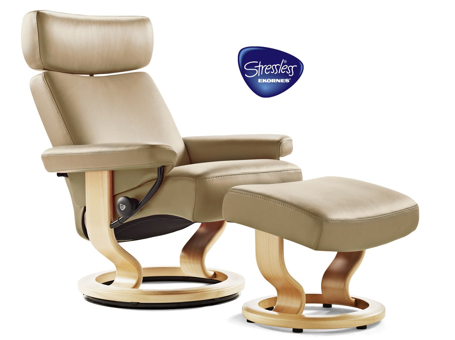 Stressless Orion Recliner and Footstool at Dansk.   RECLINE.IN.STYLE ...