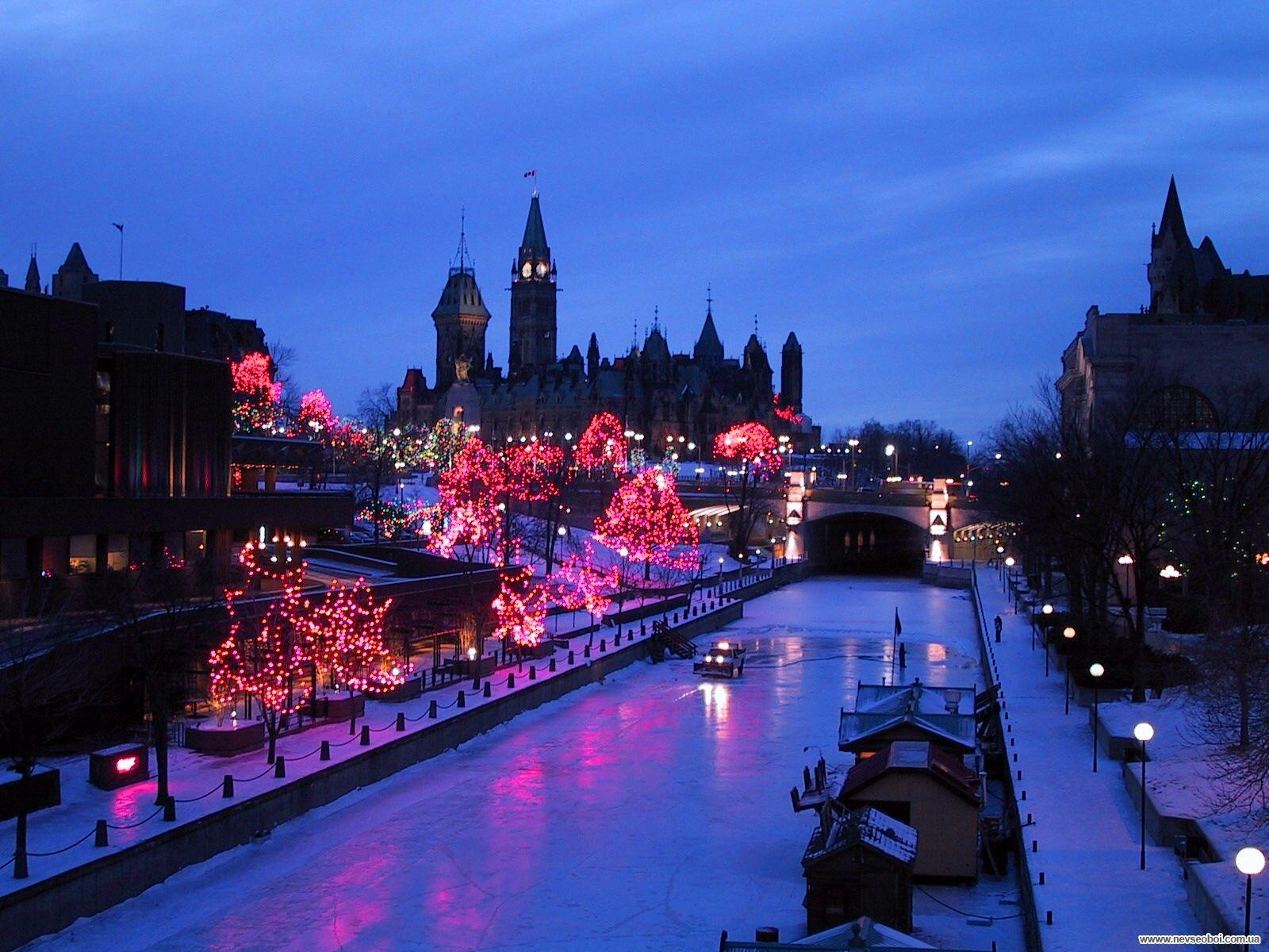 Canal Rideau Ottawa Canada Rideau Canal Winter Wallpaper