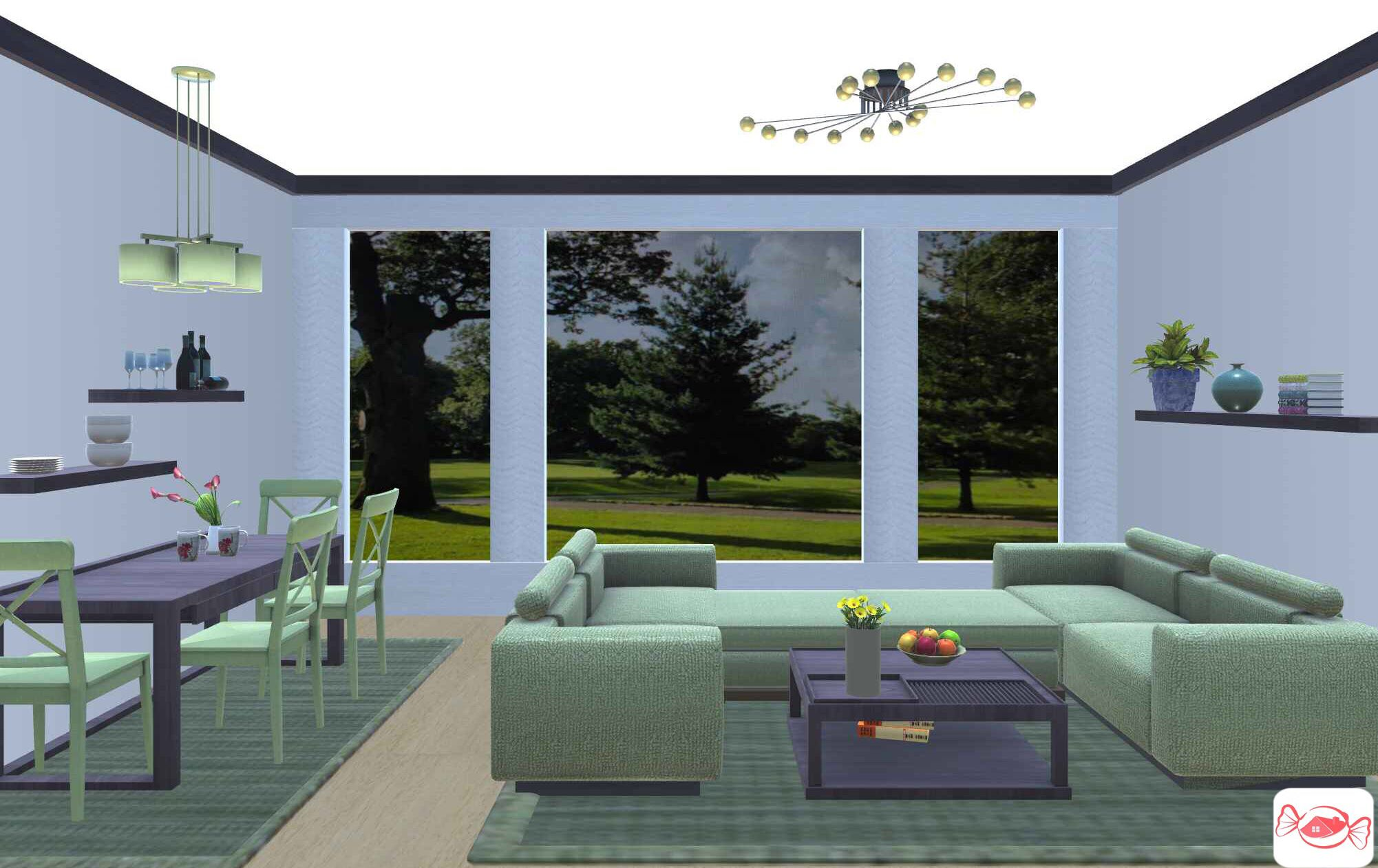 Living With Nature Living Room Design Created With Home Sweet Home
