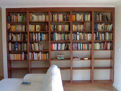 Custom Timber Bookshelves Select Joinery