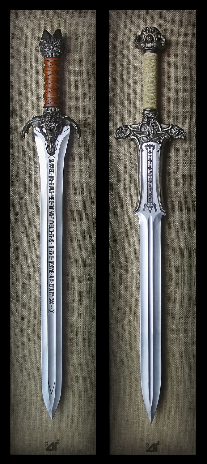 conan's father's sword and the antilion sword conan finds in cave it