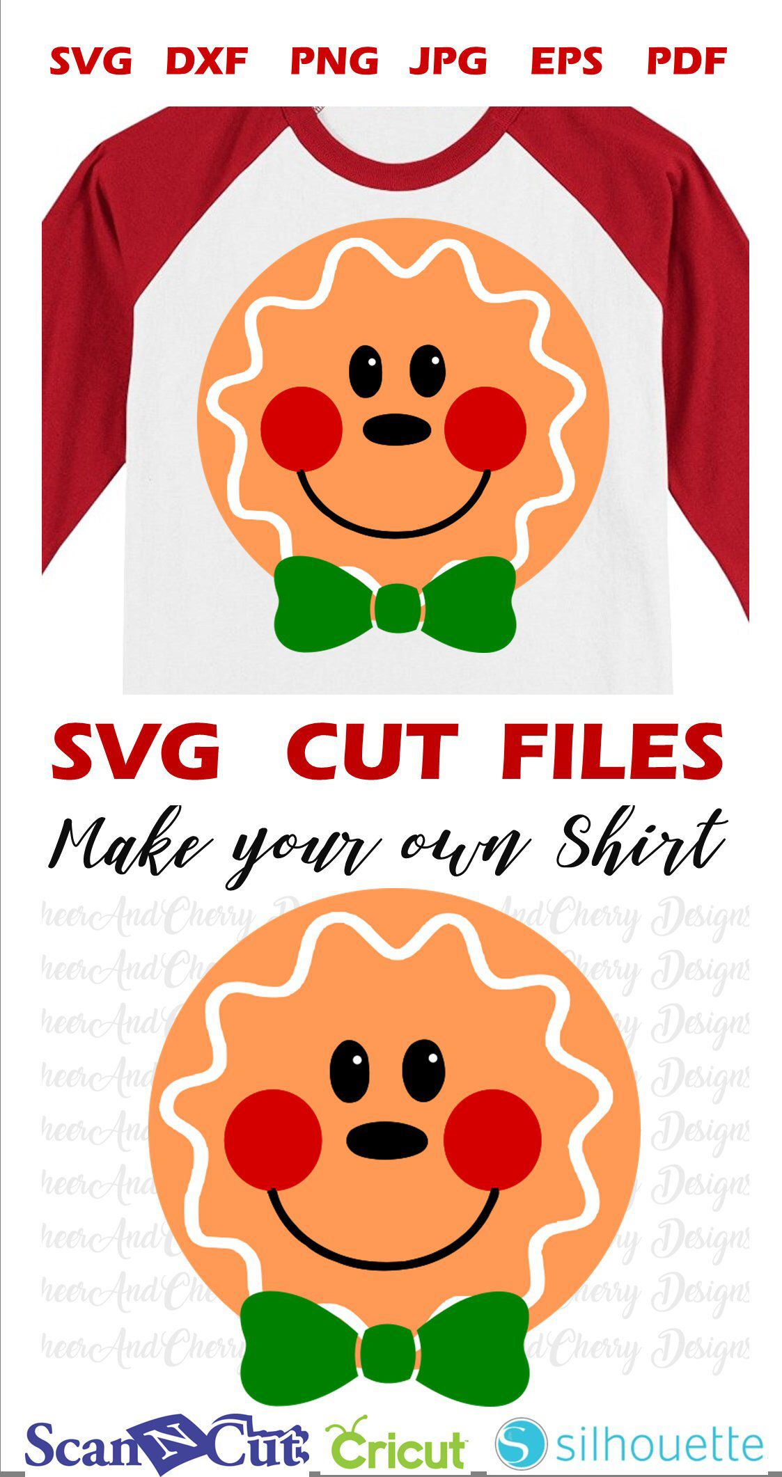 Gingerbread Man Face Color SVG Gingerbread man, Male