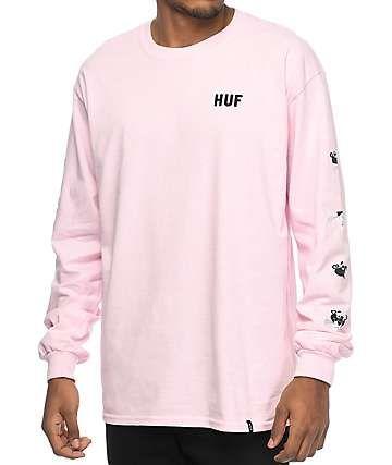 e592505f23fd HUF x Pink Panther Heads Pink Long Sleeve T-Shirt | birthday ...
