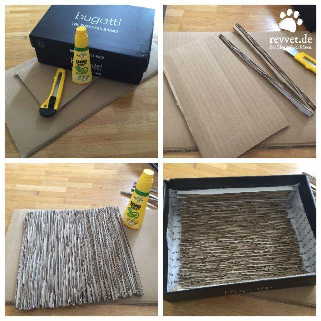 diy kratzkarton f r katzen diy anleitungen pinterest katzen diy anleitungen und selber machen. Black Bedroom Furniture Sets. Home Design Ideas