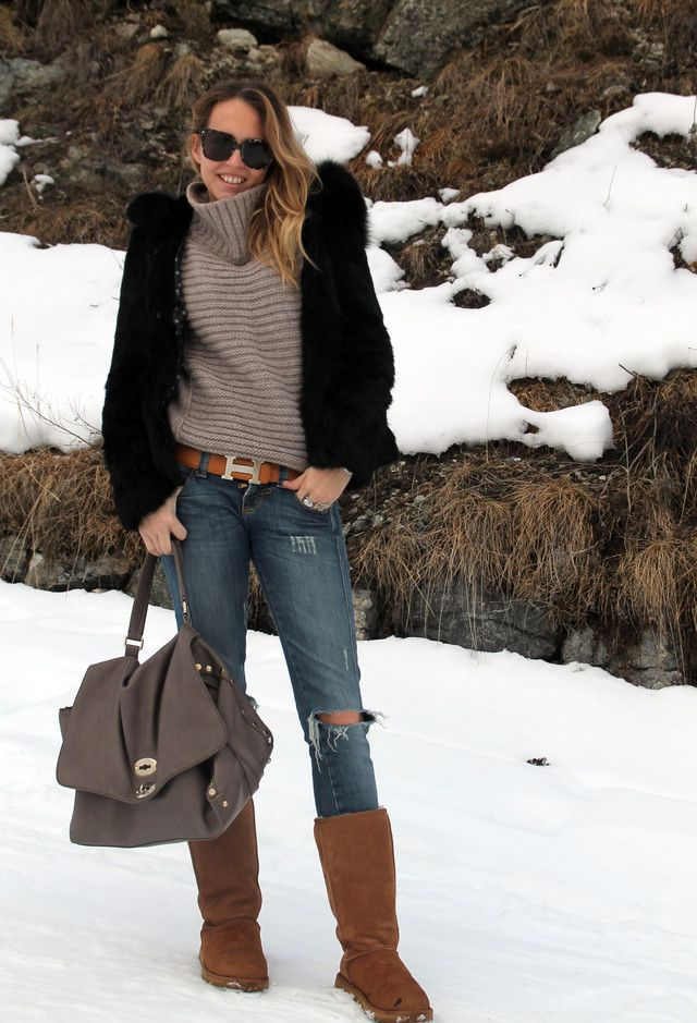 26 Cute Outfits To Wear With Ugg Boots This Winter ...