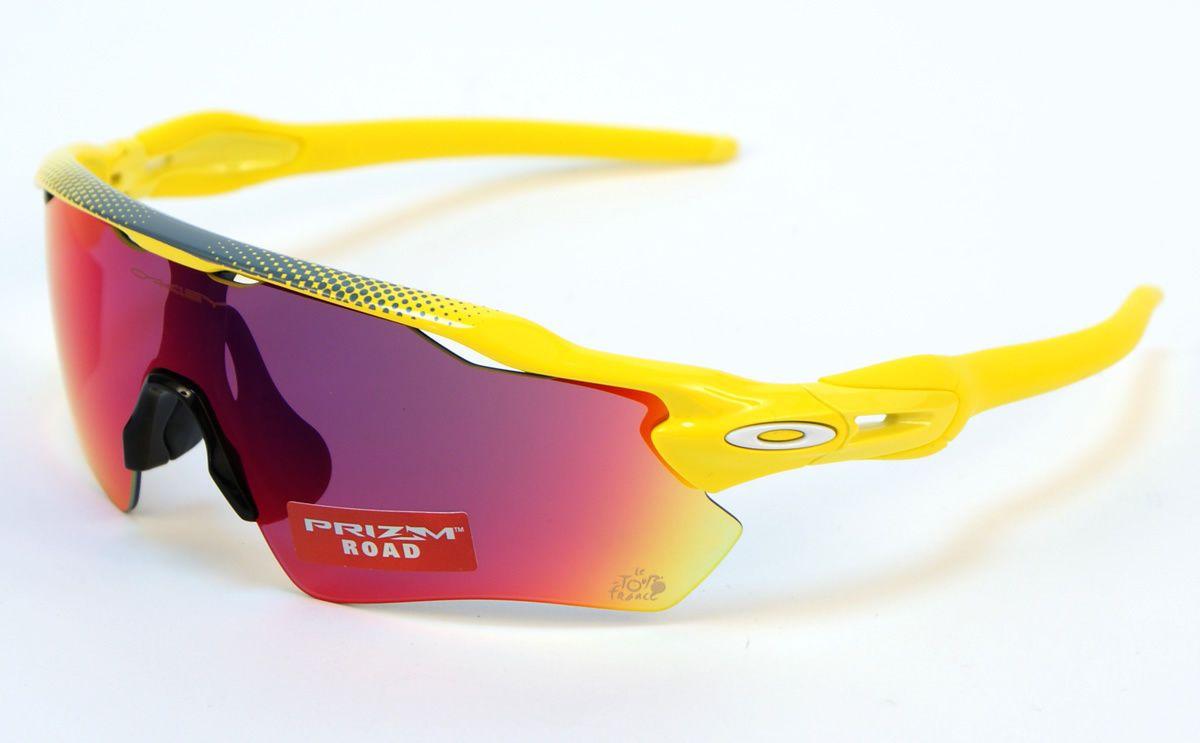 3e4b2338fa Oakley Radar EV Path Tdef OO9208 43 Sunglasses Yellow Prizm Road   eBay
