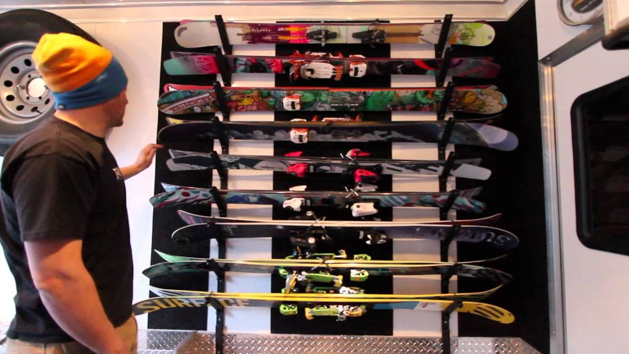 Diy ski rack ski rack diy ski rack garage