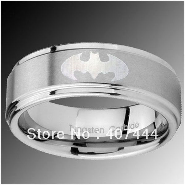 Mens wedding bands batman google search matrimony for Mens batman wedding ring