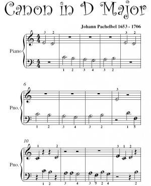Canon In D By Pachelbel Level 2 Piano Sheet Music Easy