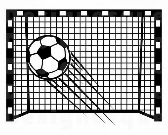 20+ Soccer goal clipart black and white information