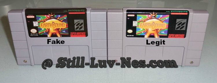 Here are the front labels of two Earthbound games  You can