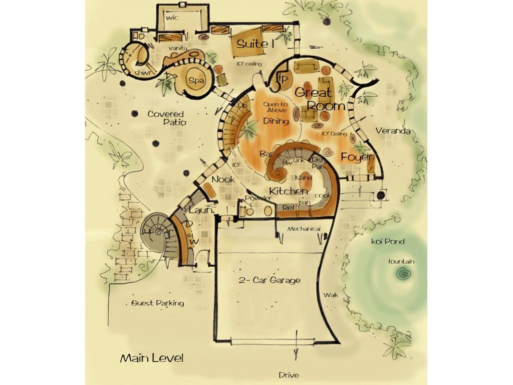 House Plan Queen of Hearts | Unique house plans, Cob house ...