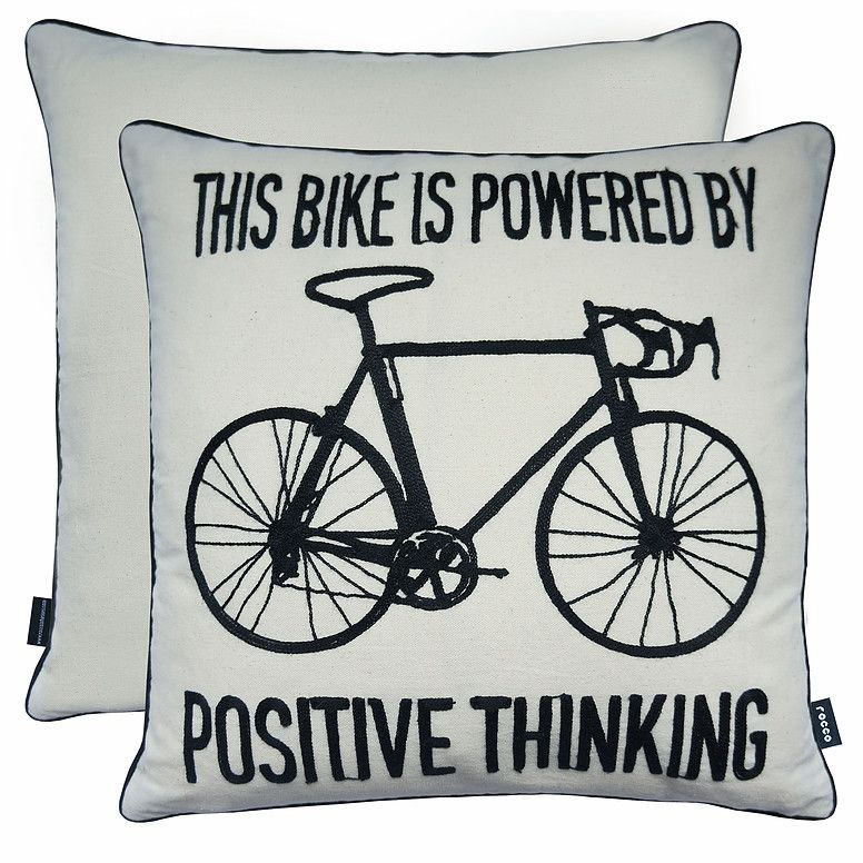 Rocco Interiors | Bicycle Linen Cushion