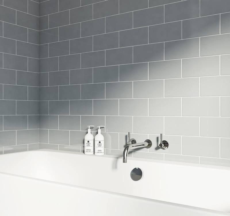 Victoria Plum Grey Wall Tiles Metro Tiles Bathroom Bathroom Wall Tile Cheap Bathroom Tiles
