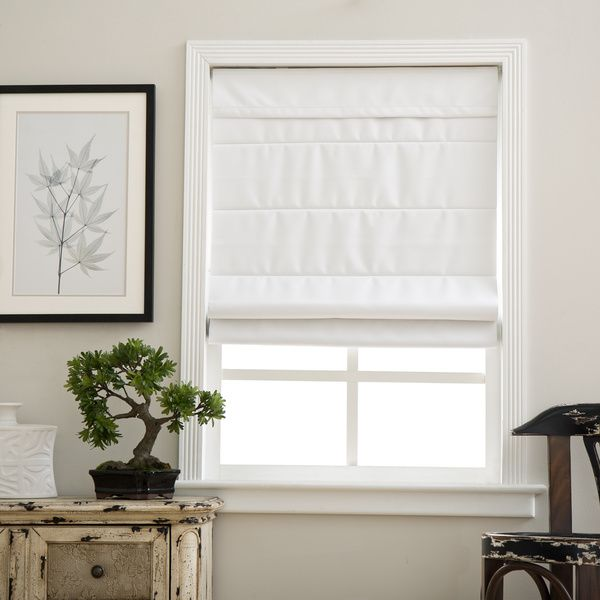 Arlo Blinds Cloud White Room Darkening Cordless Lift