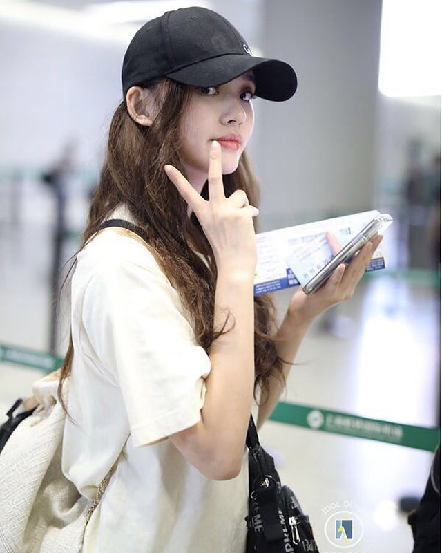 Spotted Chinese Actress Lin Yun At Shanghai Airport On
